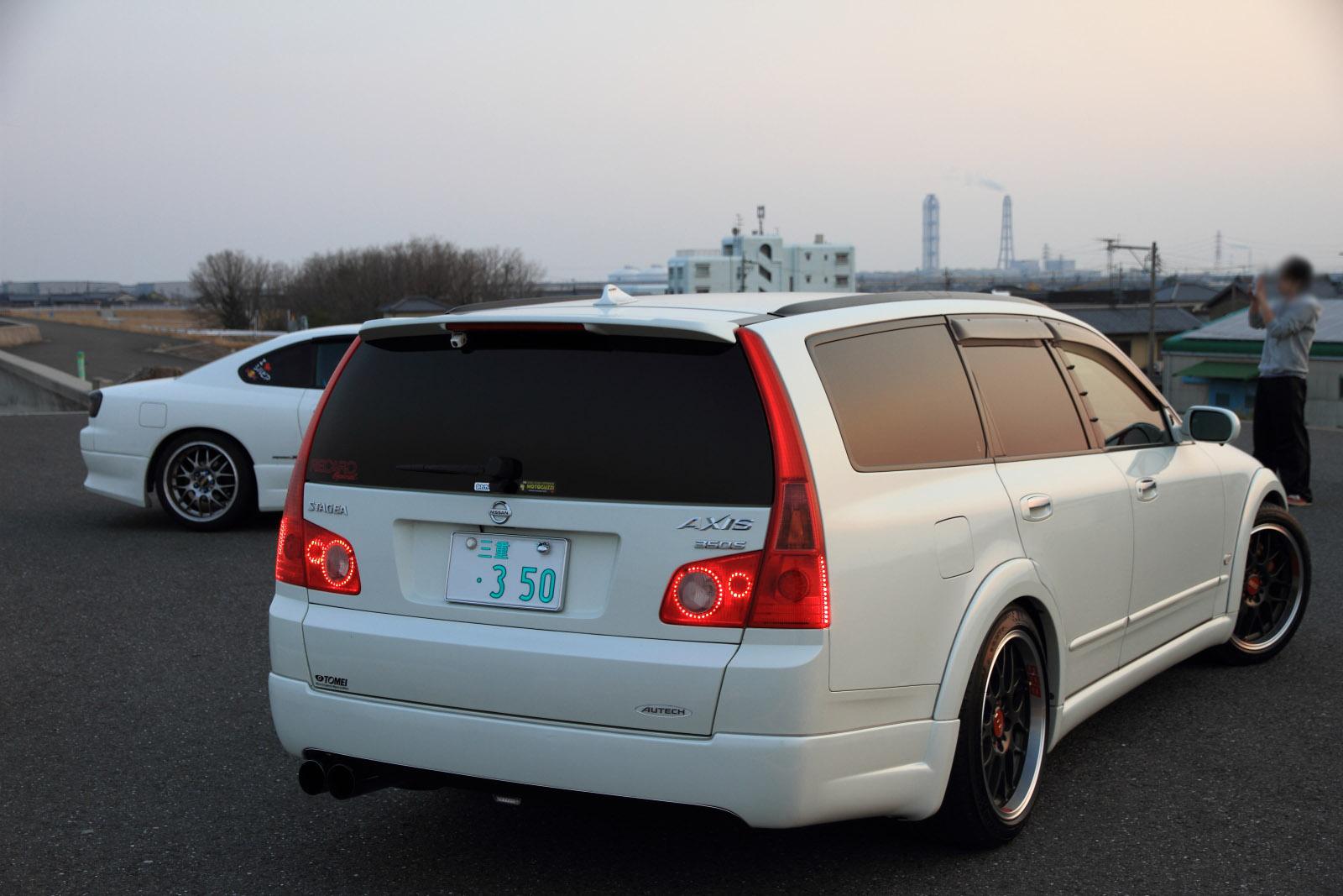 Nissan Stagea M35, sportowe kombi, ciekawe, japońskie, fotki