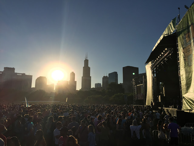 Lollapalooza Chicago Skyline Friday 2015