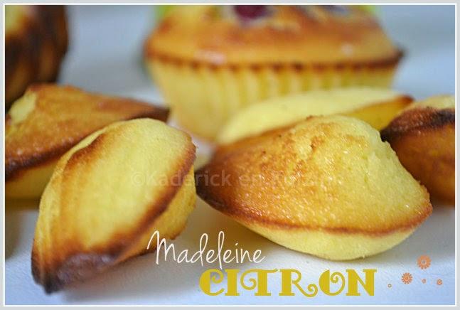 Recette de madeleine aux citron
