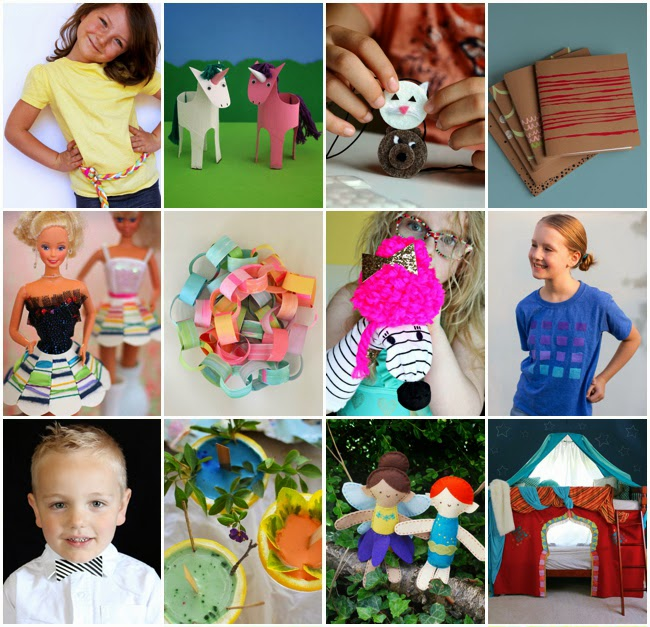 Some of the crafts inside of Happy Handmade Ebook!