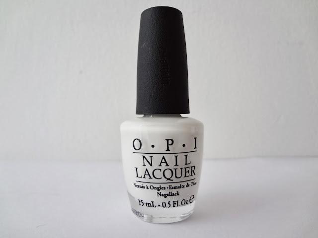 Bottle shot of OPI nail polish Alpine Snow.