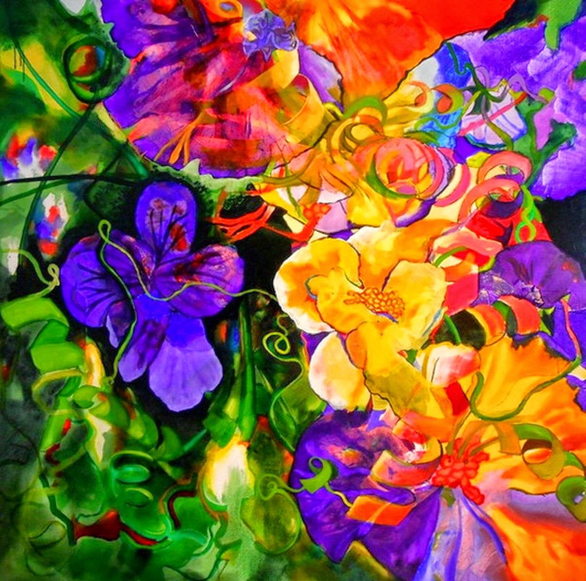 im genes arte pinturas flores de olores brillantes