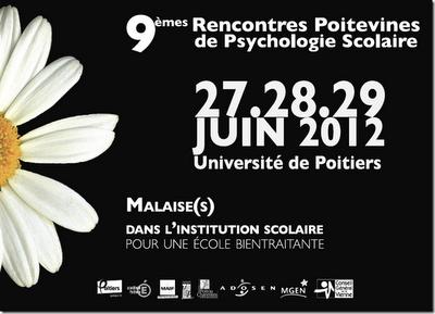 rencontres poitevines psychologie scolaire 2010 Clermont-Ferrand