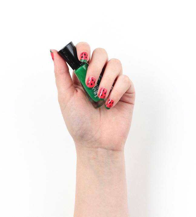http://thecraftedlife.com/watermelon-nail-art/