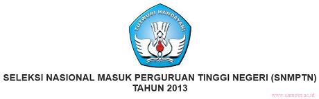 Daftar Perguruan Tinggi Negeri (PTN) SNMPTN 2013