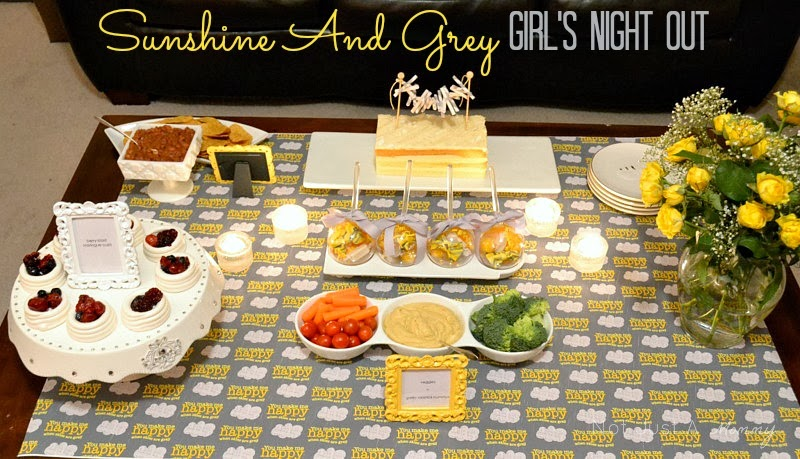 Sunshine and Grey Girl's Night Out table