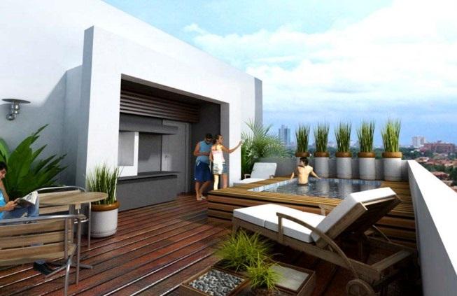 Jard n en una terraza o azotea guia de jardin for Ideas de techos para terrazas