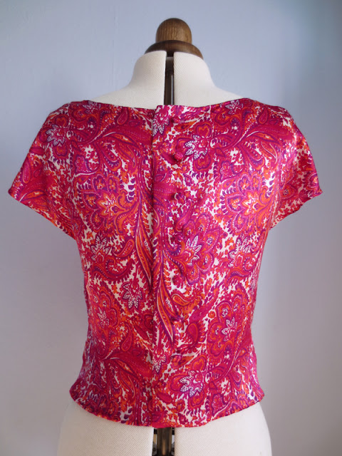 Silk blouse back
