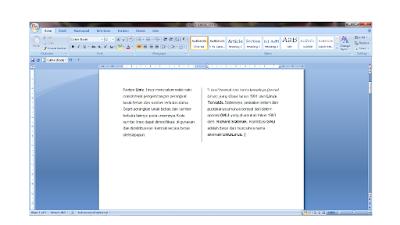 Membuat Kolom Koran Pada Microsoft Word