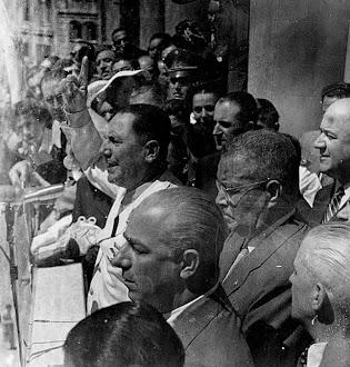Perón con Carlos Ibañez del Campo