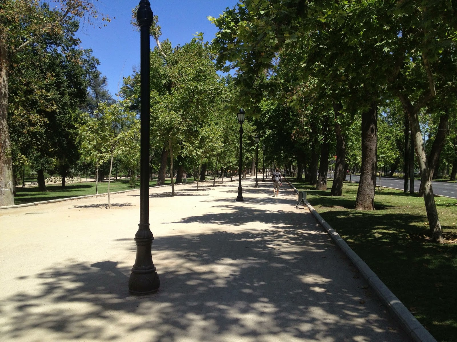 Strolling along the dusty paths of Parque Forestal