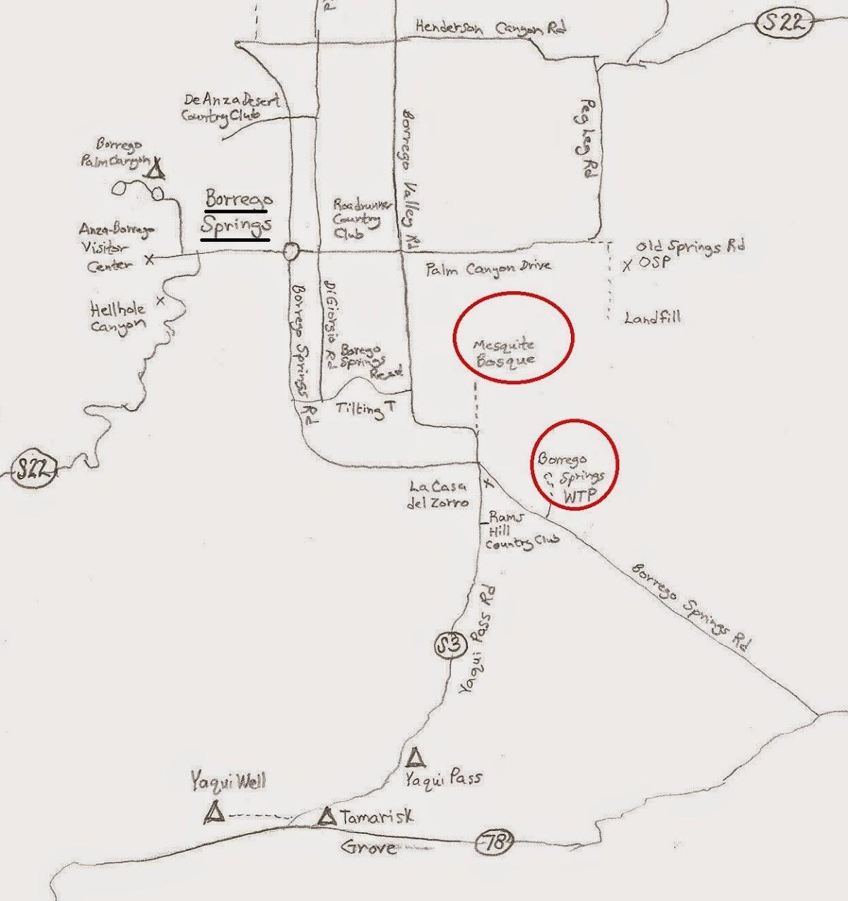 Borrego Springs birding map