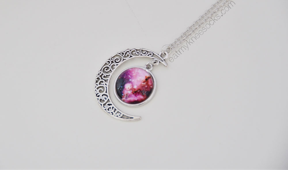 Born Pretty Store's starry sky moon necklace is perfect for spicing up a simple outfit.