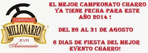 """Campeonato Millonario """"Don Félix Bañuelos Jiménez"""""""