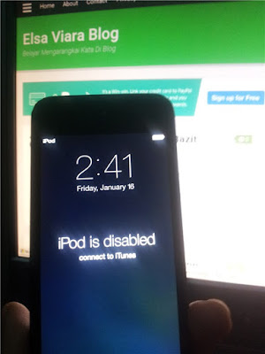 Cara Mengatasi Ipod 5 is Disabled
