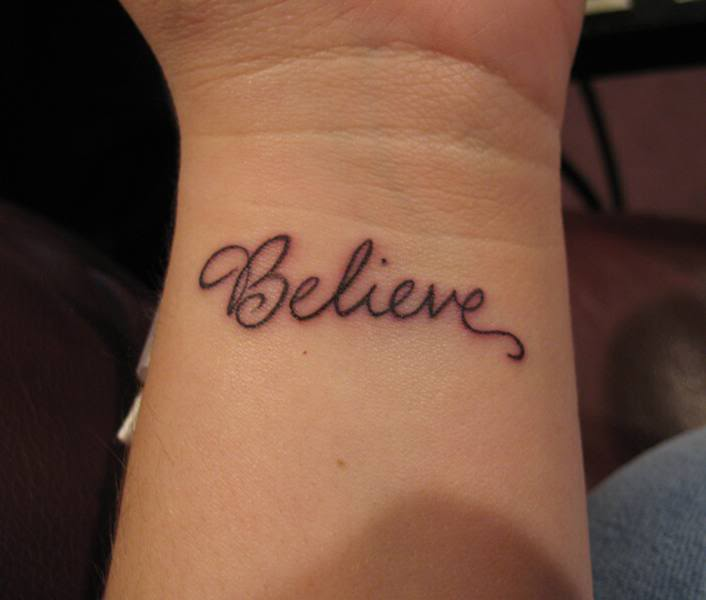 small tatoo on wrist