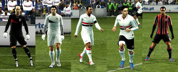 PES 2012 Sao Paulo 2012/13 Kits by Mateus