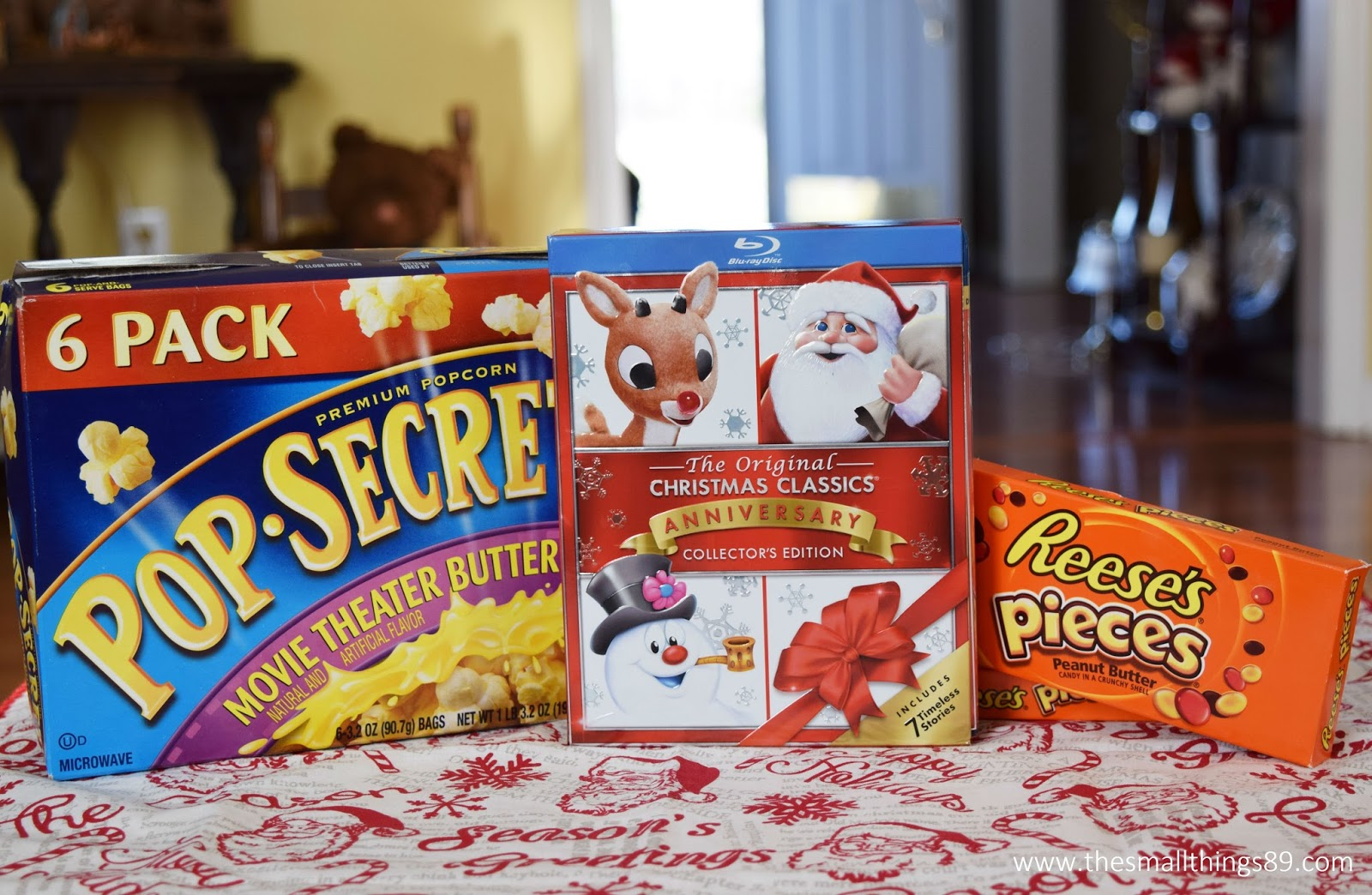 i am also so excited to share that pop secret popcorn and reeses pieces have joined together with these christmas classics to help the holidays really pop