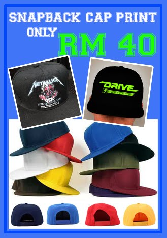 Snapback Cap @ RM 40 include printing