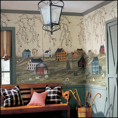 Decorating theme bedrooms maries manor primitive for Country dining room wall art