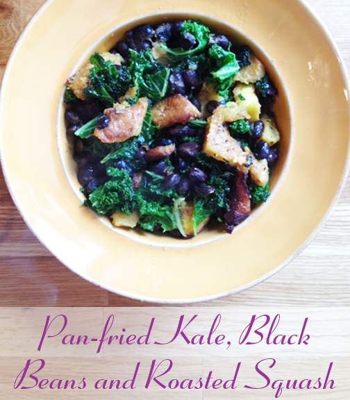 kale black bean and roasted squash
