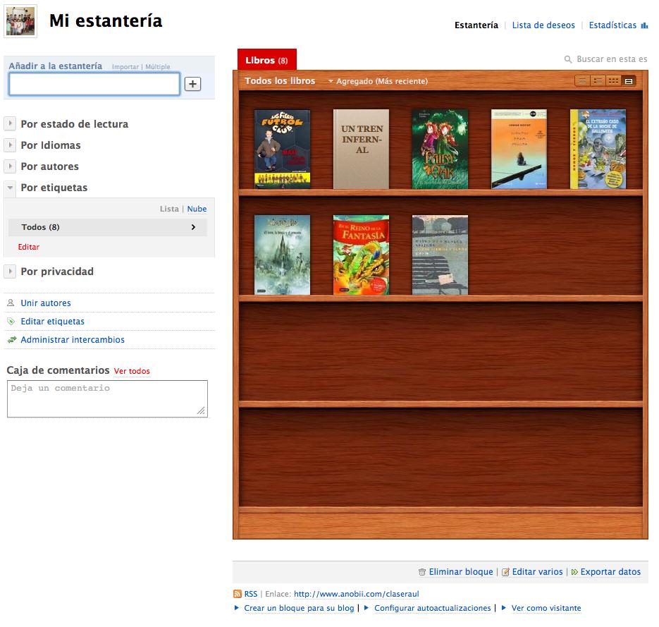 Estante de lectura con anobii - Estante para libros ...