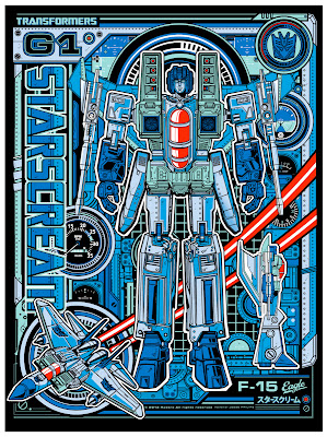 "Wizard World Philadelphia Comic Con 2013 Exclusive Transformers ""Starscream"" Variant Screen Print by Jesse Philips"