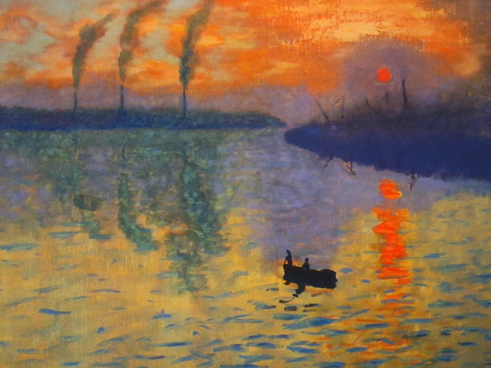 Mi blog de pintura impresi n sol naciente - Fotos de cuadros de monet ...
