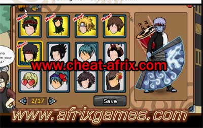 Cheat Hair Style Ninja Saga Free User April 2013 Work 100%