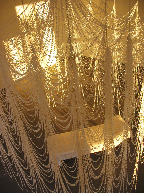curtain made from pills