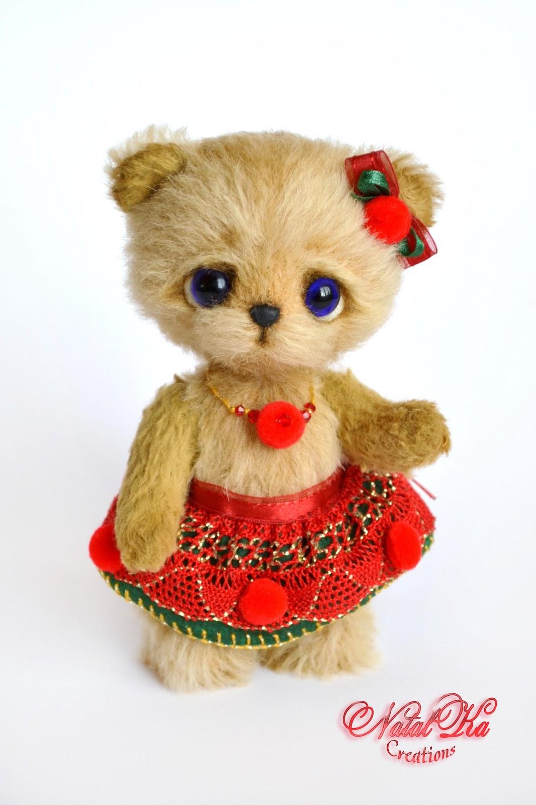 Artist teddy bear, artist bear, ooak, jointed, handmade by NatalKa Creations. Künstlerbär, Künstlerteddy, Teddybär, Teddy, Unikat, handgemacht von NatalKa Creations.