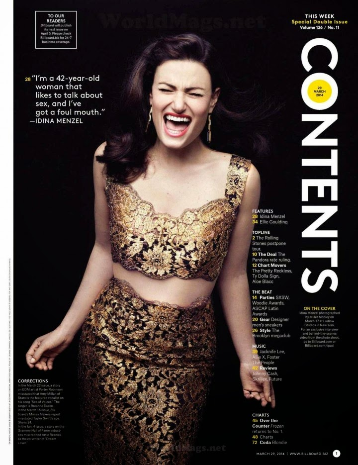 Idina Menzel – Billboard Magazine (March 2014):