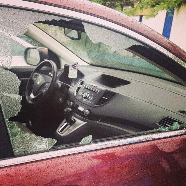 dotun ojuolape car broke into
