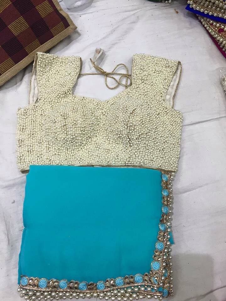 MODELS OF BLOUSE DESIGNS PEARL WORK EMBROIDERY DESIGNER ...