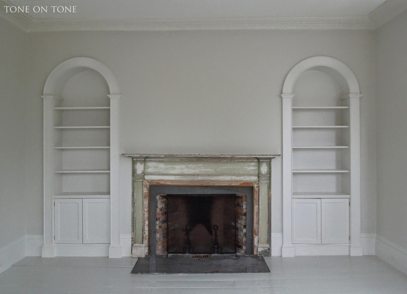 Living Room With An Arched Over Mantel Niche BELOW The Living Room