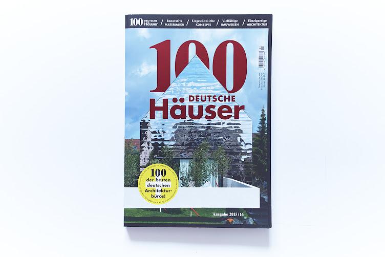 100 Deutsche Häuser 2015/16 veröffentlichen unser Projekt Villa von Pape+Pape Architekten