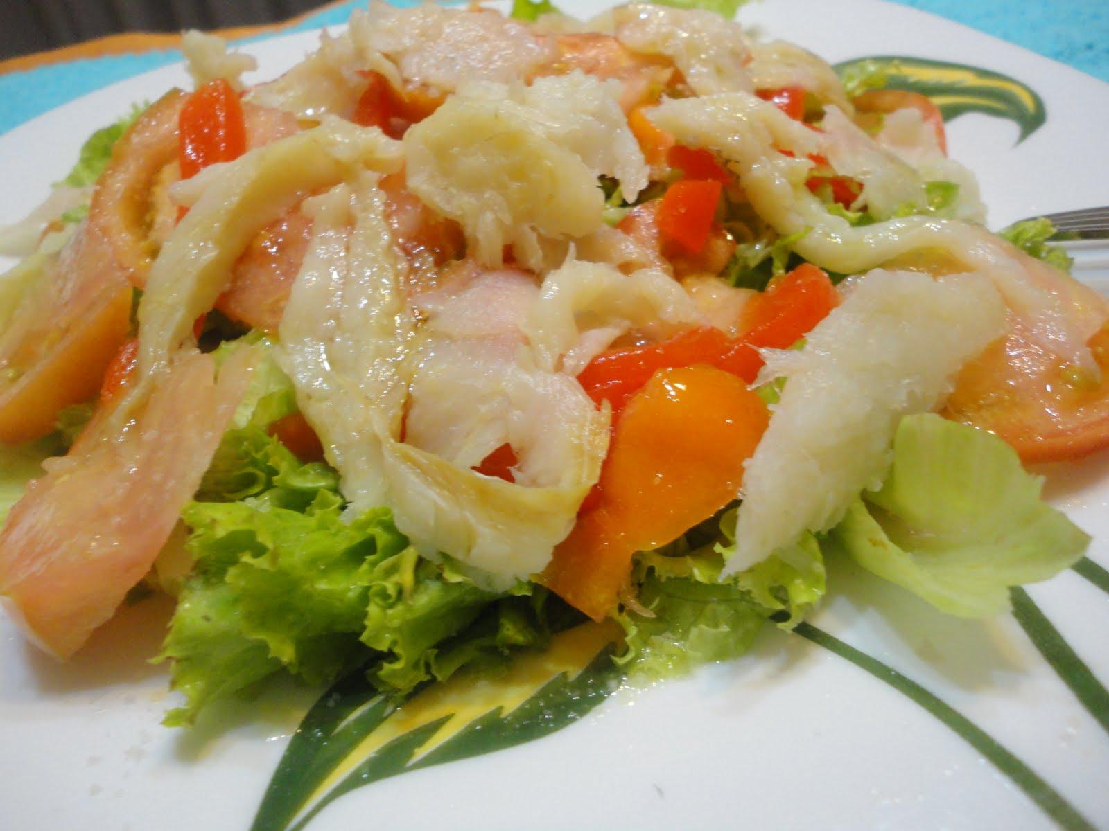 Las recetas de cheche ensalada de bacalao desalado - Cocinar bacalao desalado ...