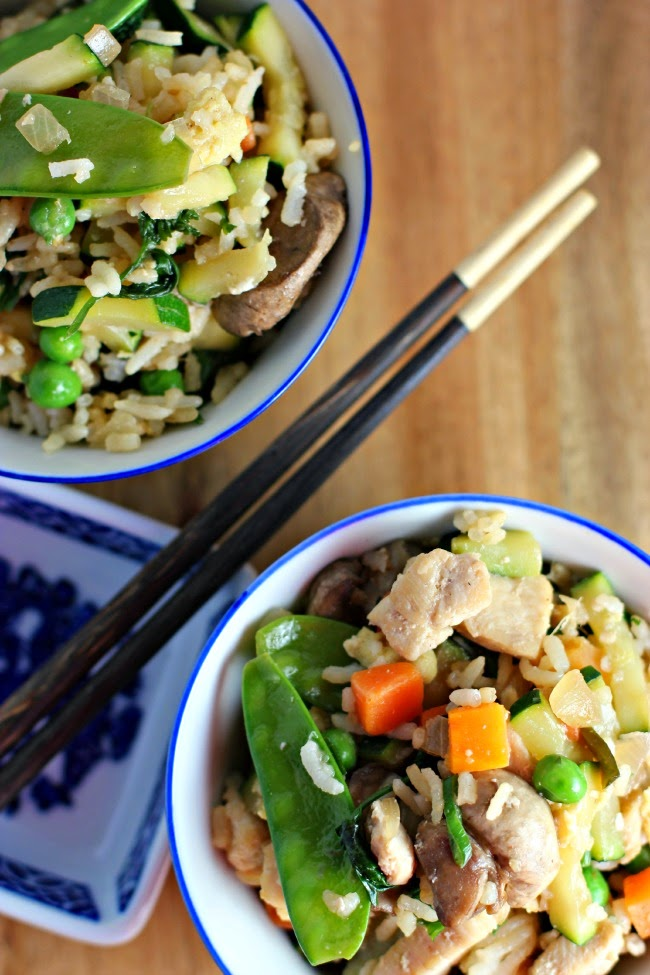 Chinese New Year Chicken Fried Rice