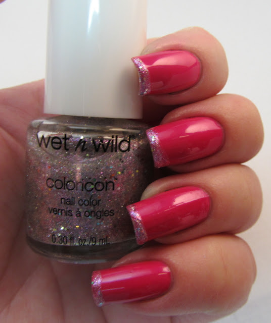 "Venique ""Hot Date"" with Wet n Wild Coloricon ""The Crown is Mine"" on the tips."