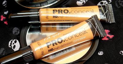 LA Girl Pro HD concealer review, LA Girl Pro HD concealer Warm Honey review, LA Girl Pro HD concealer Fawn review, LA Girl Pro HD concealer swatches, LA Girl Pro HD concealer for Dusky skin, LA Girl concealer review swatches, Indian beauty blog, Concealer for Dusky skin India.