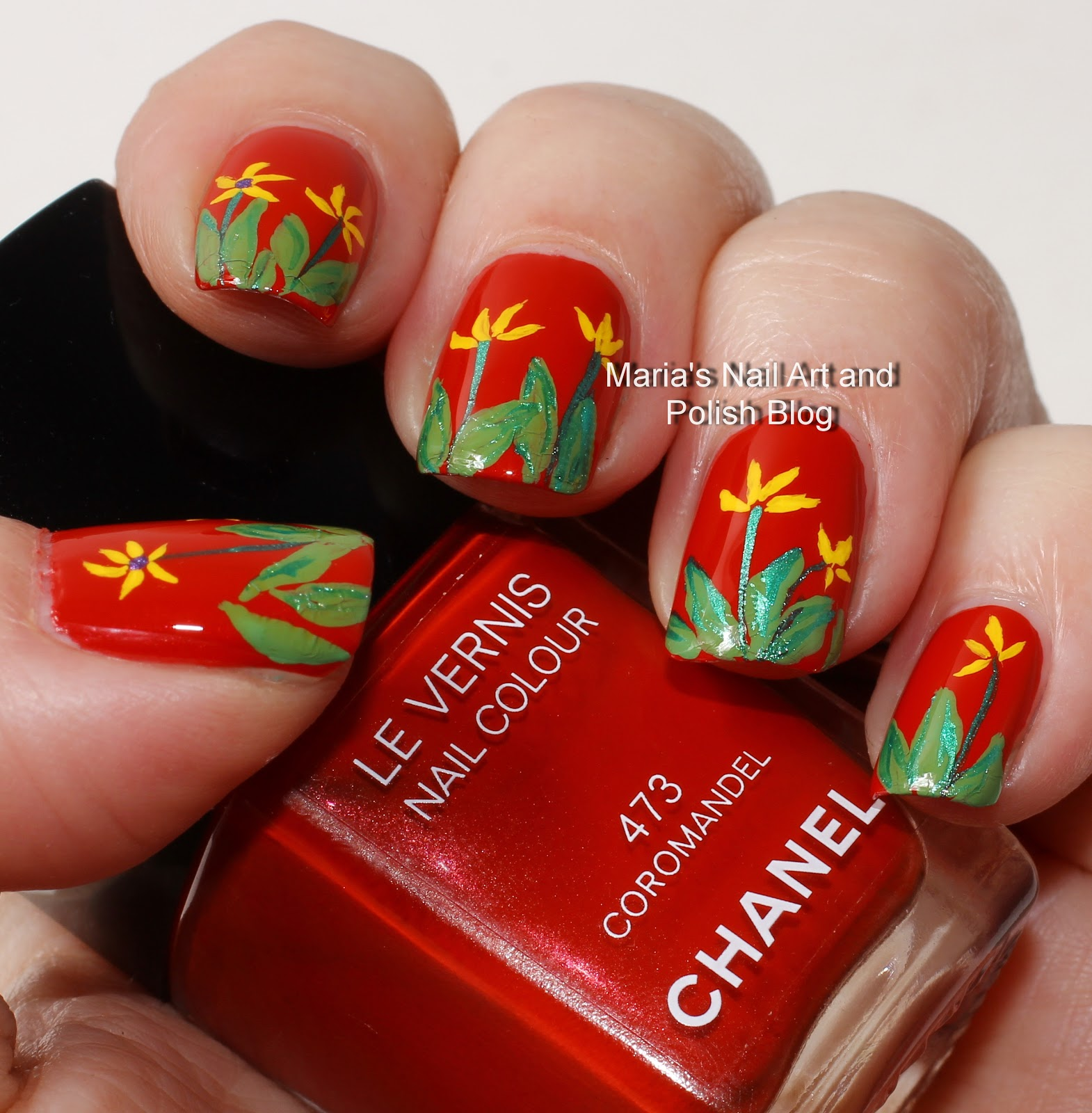 Marias Nail Art And Polish Blog Subtle Floral Nail Art On: Marias Nail Art And Polish Blog: Floral French Coromandel