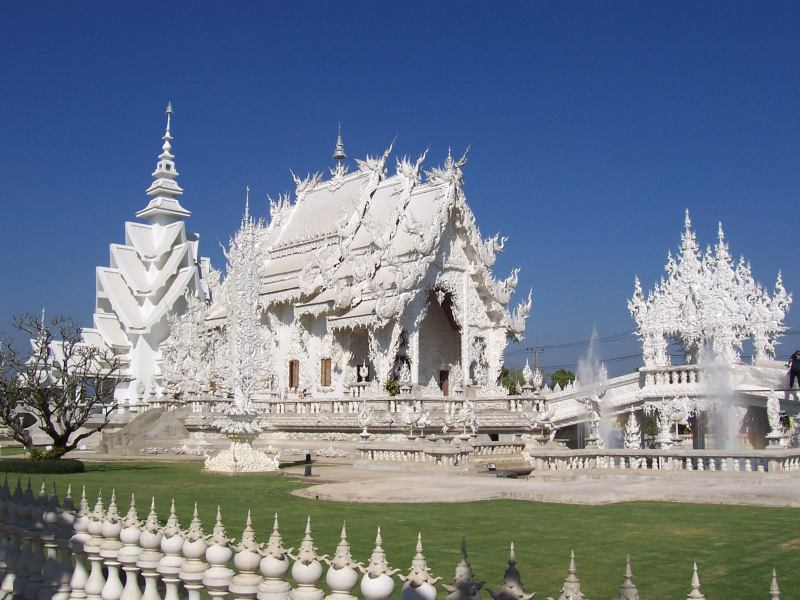 Wat Rong Khun(Thai: วัดร่องขุ่น):Buddhist temple in Chiang ...