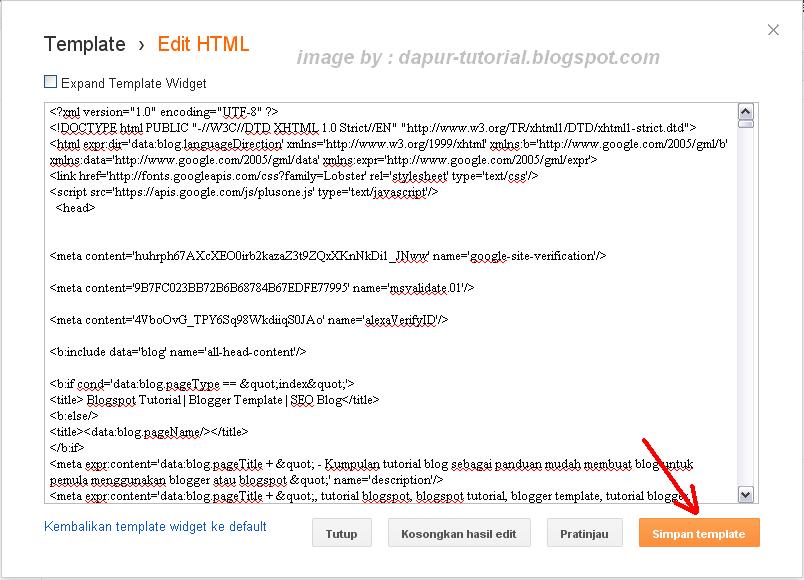 Cara menambahkan elemen laman baru dibawah header blog - Div id header ...