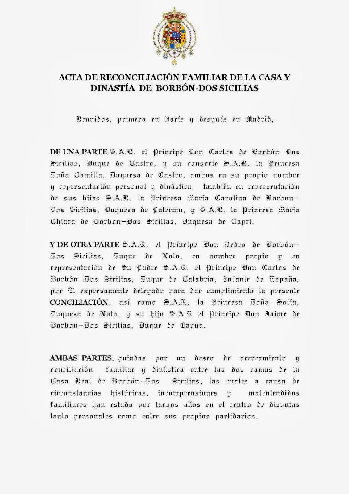 Sacra y militar orden constantiniana de san jorge actas for Acta familiar