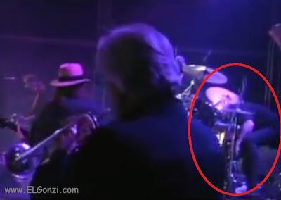 baterista muere en vivo en brasil