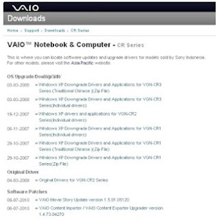 Download driver sony vaio gratis (free driver sony vaio)