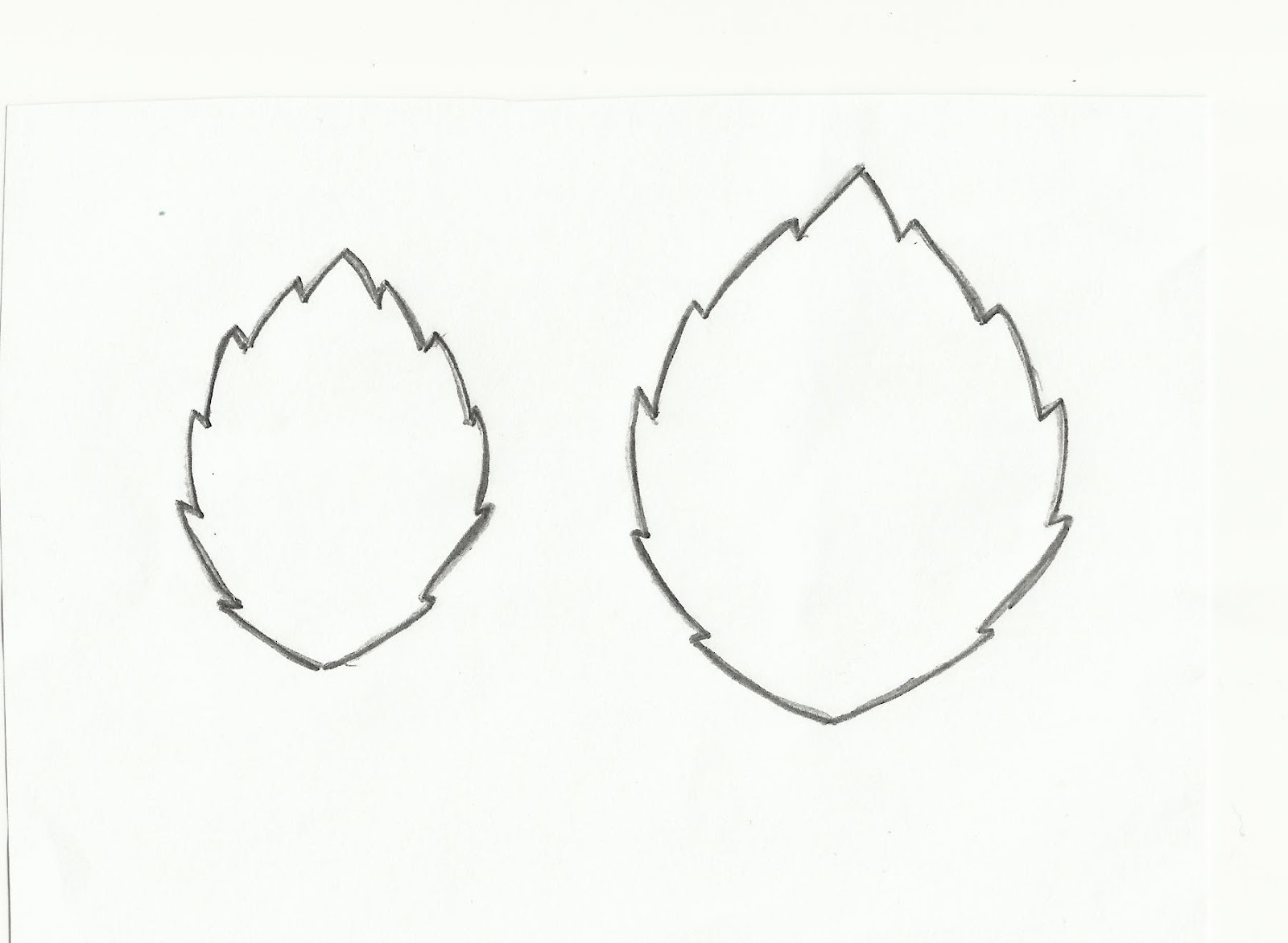 Leaf Shapes for Crafts http://clare-buswell.blogspot.com/2012/05/leaf-tutorial.html