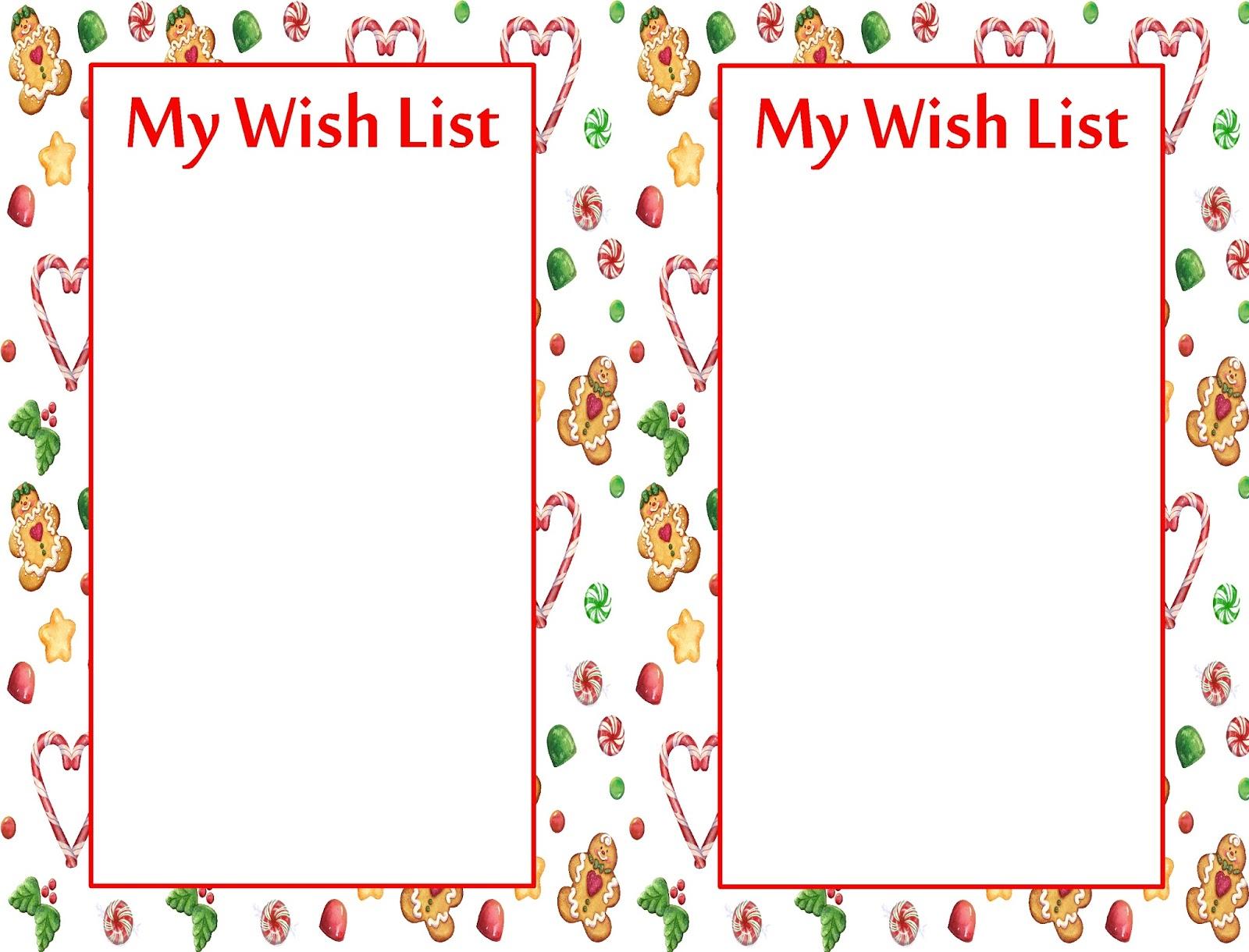 List Santa Template Daily Roabox Printable Christmas List Template – Printable Wish List Template