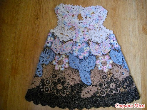 259 Instrucciones de Vestidos de Bebe a Crochet Ruso ~ Patrones de ...