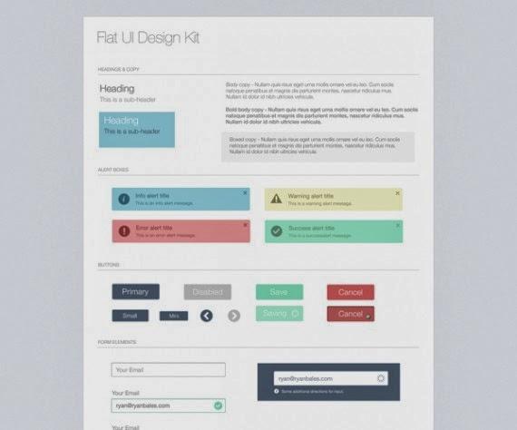 Flat UI Kit – Freebie PSD